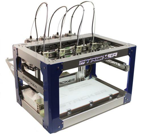 stacker 500, 4 head 3d desktop printer, stacker 3d