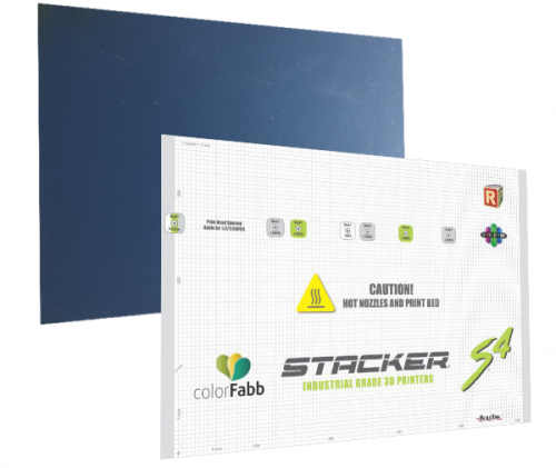 stacker, s4, 4 head, frame, extender, 3d desktop printer, stacker 3d, color fabb, filaments, s2, ibeam, i-beam, stacker s4, stacker xl, S4 FlexPlate and BuildTak